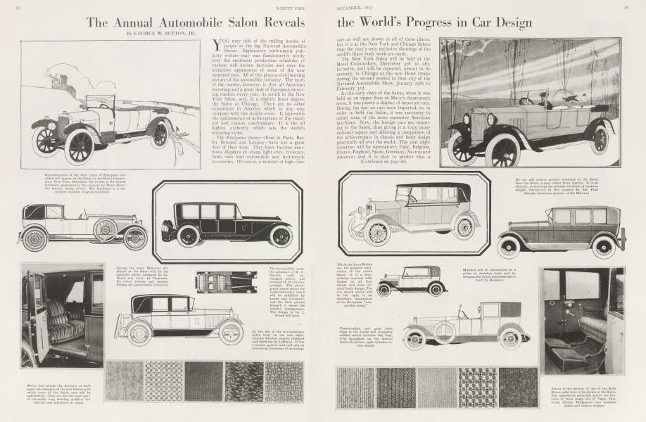The Annual Automobile Salon Reveals the World's Progress in Car Design