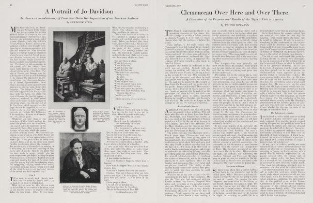 Article Preview: A Portrait of Jo Davidson, February 1923 1923 | Vanity Fair