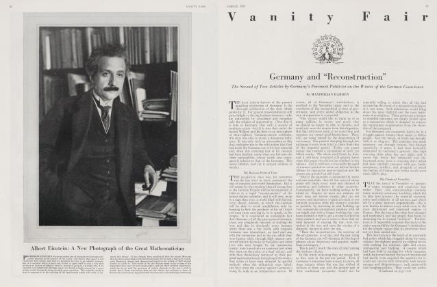 Article Preview: Albert Einstein: A New Photograph of the Great Mathematician, March 1923 1923 | Vanity Fair