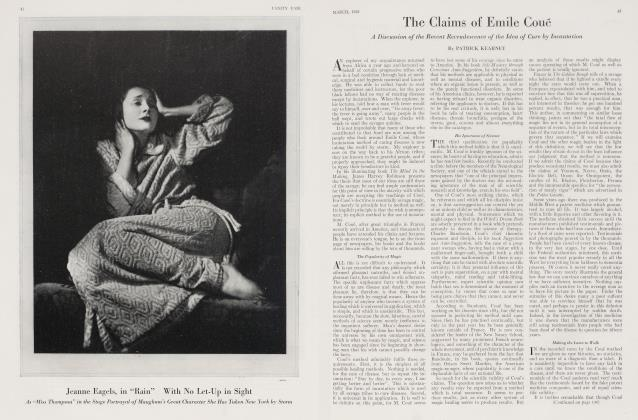 Article Preview: The Claims of Emile Coué, March 1923 | Vanity Fair