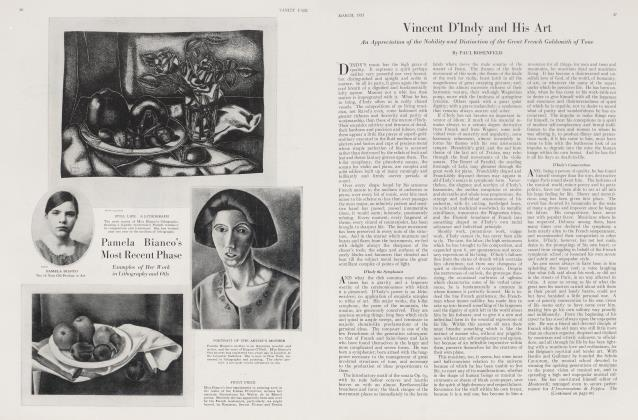 Article Preview: Vincent D'Indy and His Art, March 1923 | Vanity Fair