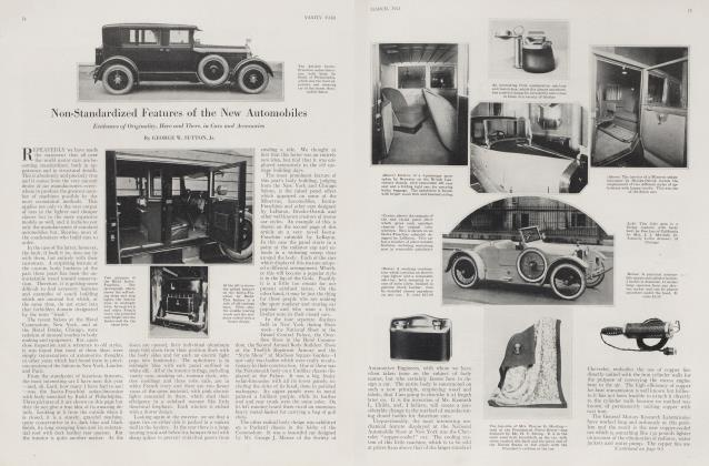 Article Preview: Non-Standardized Features of the New Automobiles, March 1923 | Vanity Fair