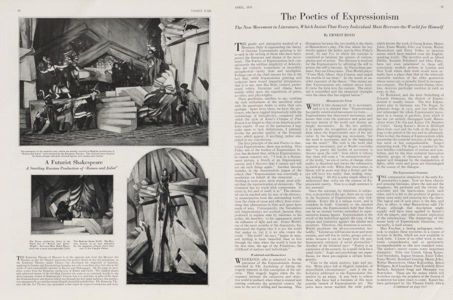 The Poetics of Expressionism