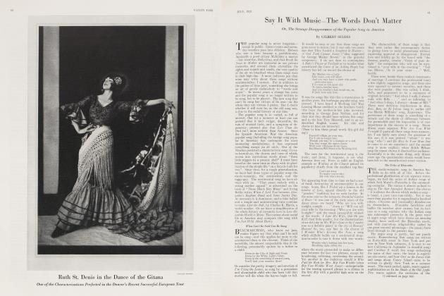 Article Preview: Say It With Music—The Words Don't Matter, July 1923 | Vanity Fair