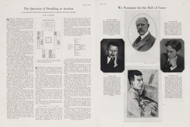 Article Preview: The Question of Doubling at Auction, July 1923 | Vanity Fair