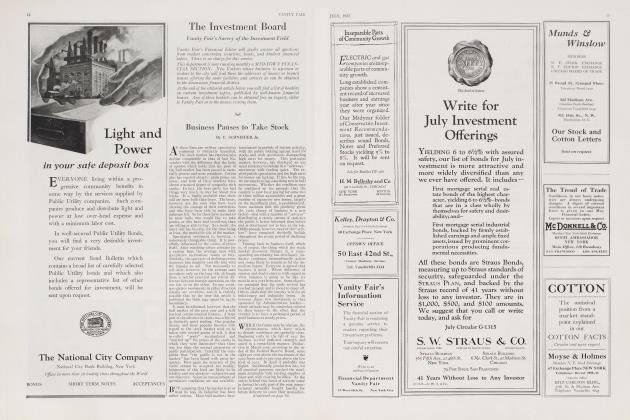 Article Preview: Business Pauses to Take Stock, July 1923 | Vanity Fair