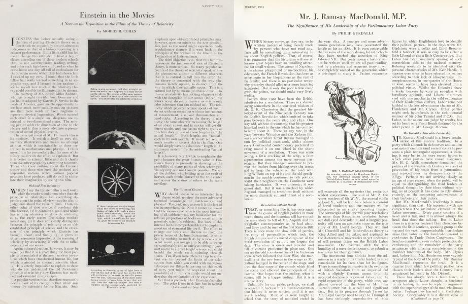Mr. J. Ramsay MacDonald, M.P.
