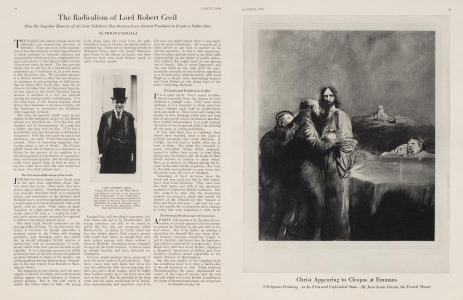 The Radicalism of Lord Robert Cecil