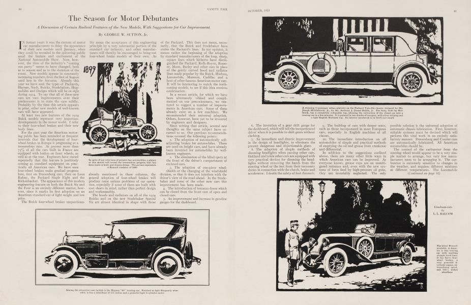 The Season for Motor Débutantes