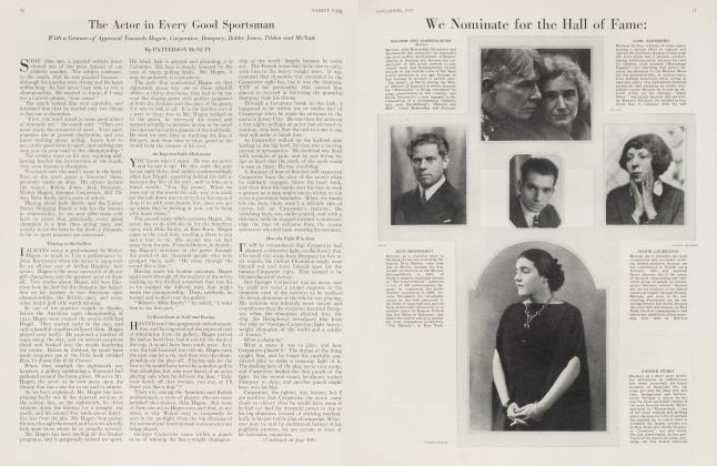 Article Preview: The Actor in Every Good Sportsman, November 1923 | Vanity Fair