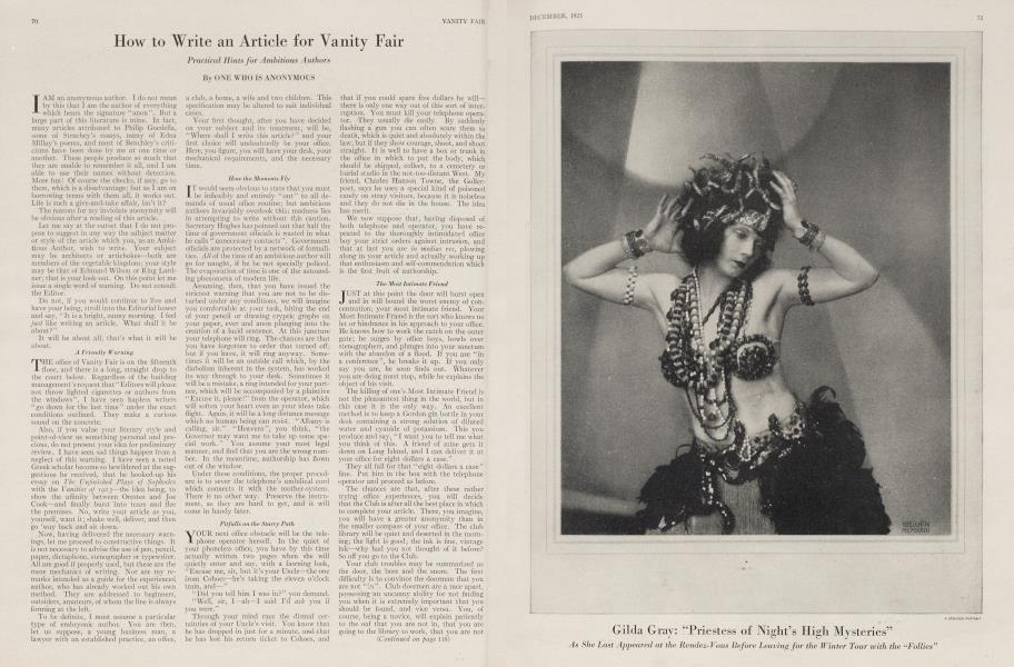 How to Write an Article for Vanity Fair