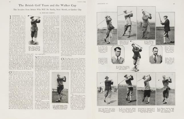 The British Golf Team and the Walker Cup