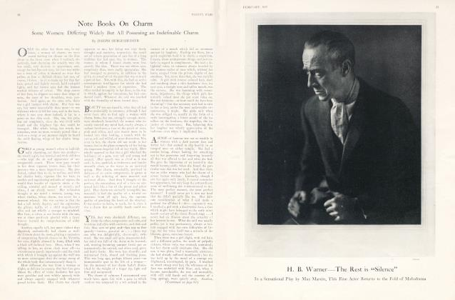 Article Preview: Note Books On Charm, February 1925 1925 | Vanity Fair