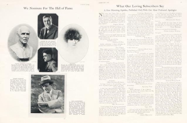 Article Preview: What Our Loving Subscribers Say, February 1925 1925 | Vanity Fair