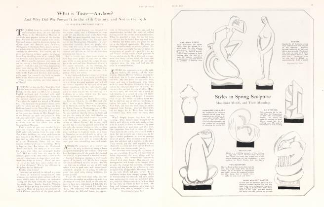 Article Preview: What is Taste—Anyhow?, July 1925 | Vanity Fair