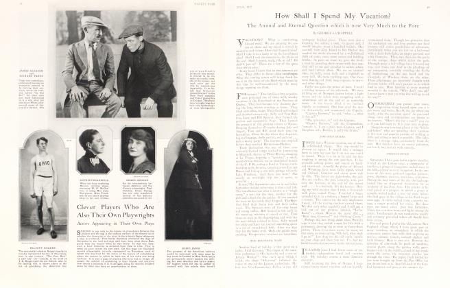 Article Preview: How Shall I Spend My Vacation?, July 1925 1925 | Vanity Fair