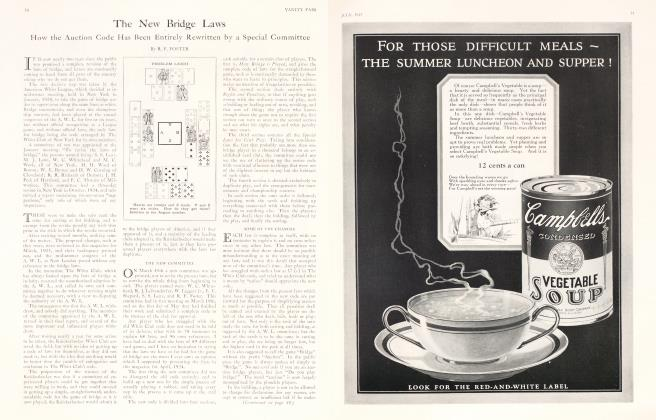 Article Preview: The New Bridge Laws, July 1925 | Vanity Fair