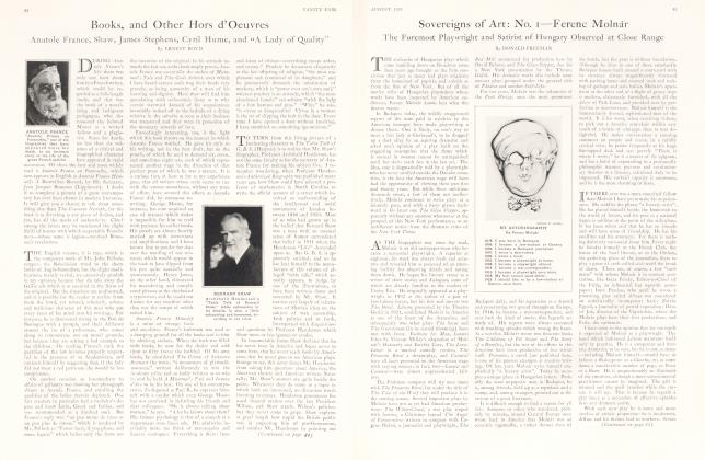 Article Preview: Books, and Other Hors d'Oeuvres, August 1925 1925 | Vanity Fair