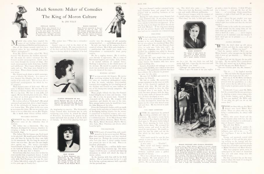 Mack Sennett: Maker of Comedies The King of Moron Culture