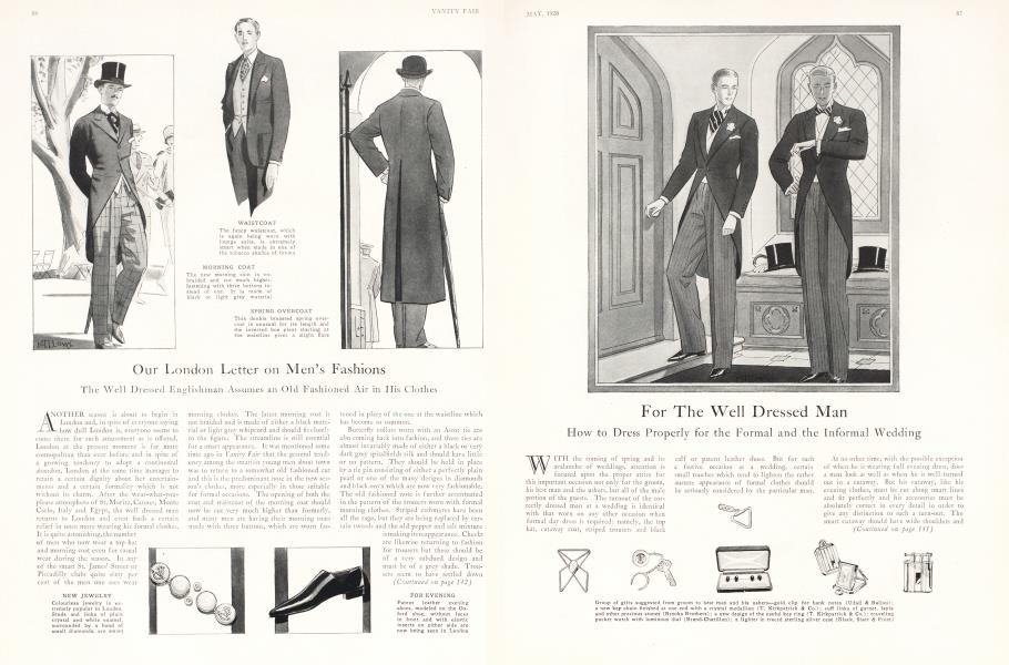 Our London Letter on Men's Fashions