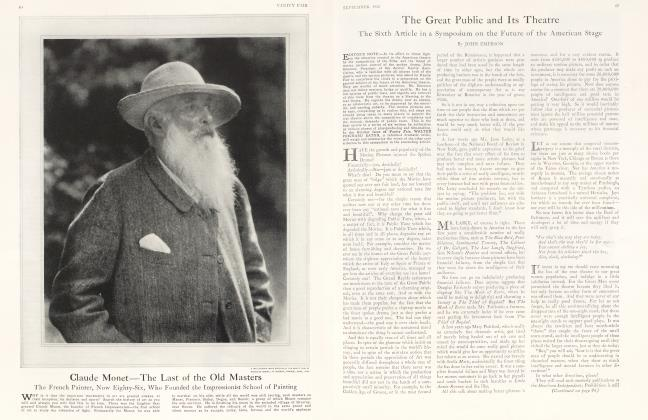 Article Preview: Claude Monet—The Last of the Old Masters, September 1926 1926 | Vanity Fair
