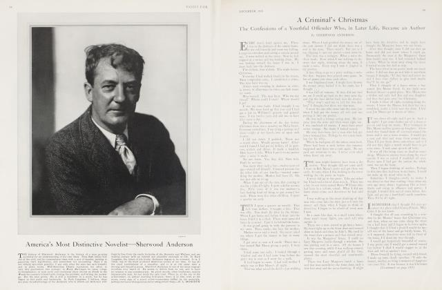 Article Preview: America's Most Distinctive Novelist—Sherwood Anderson, December 1926 1926 | Vanity Fair