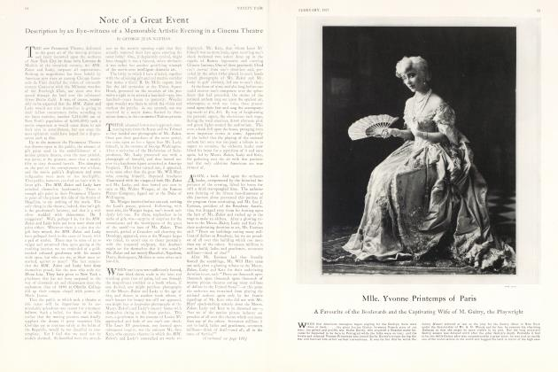Article Preview: Note of a Great Event, February 1927 1927 | Vanity Fair