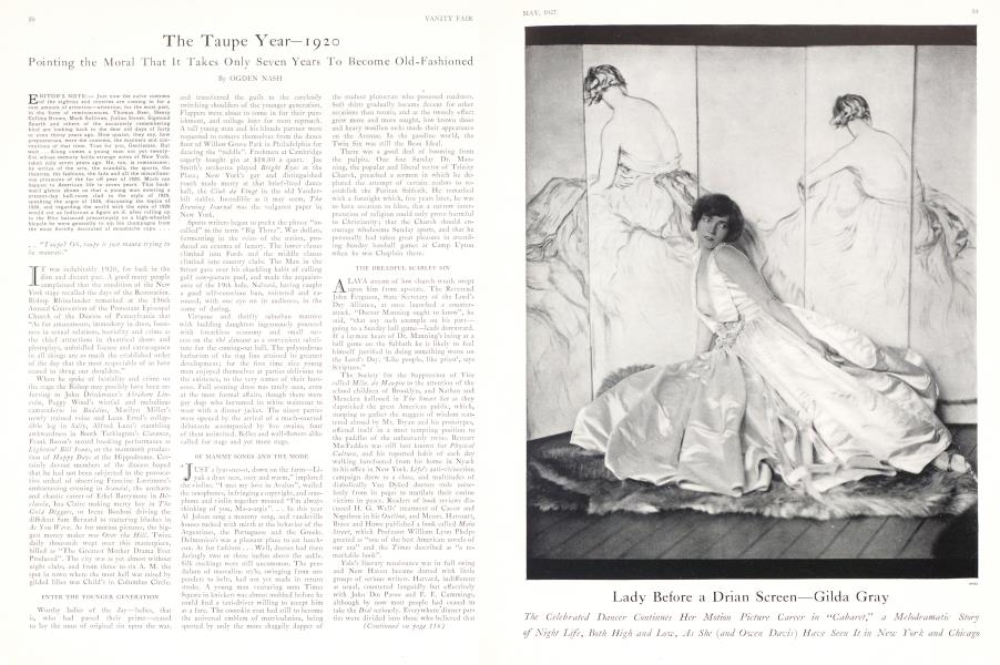 The Taupe Year—1920