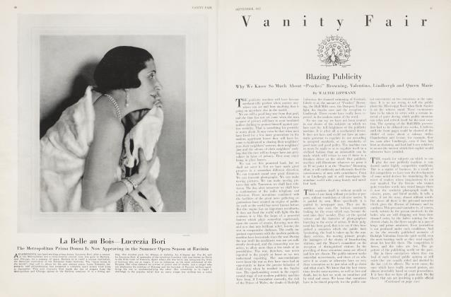 Article Preview: Blazing Publicity, September 1927 1927   Vanity Fair