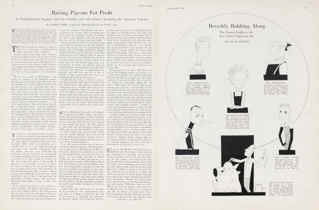 Article Preview: Raising Pigeons For Profit, September 1927 | Vanity Fair