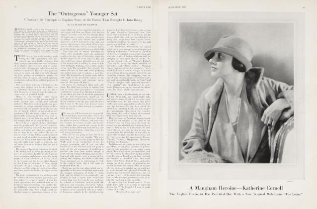 """Article Preview: The """"Outrageous"""" Younger Set, September 1927 