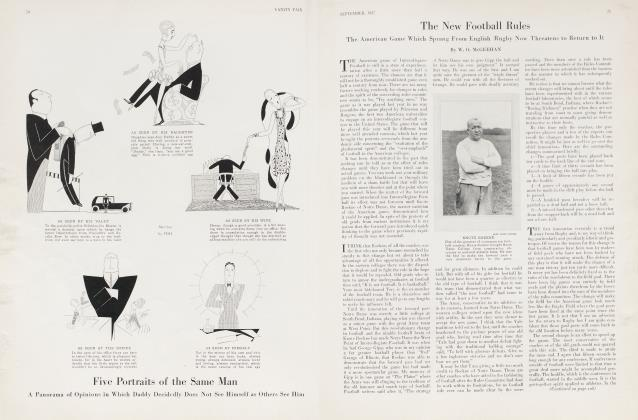 Article Preview: The New Football Rules, September 1927 | Vanity Fair