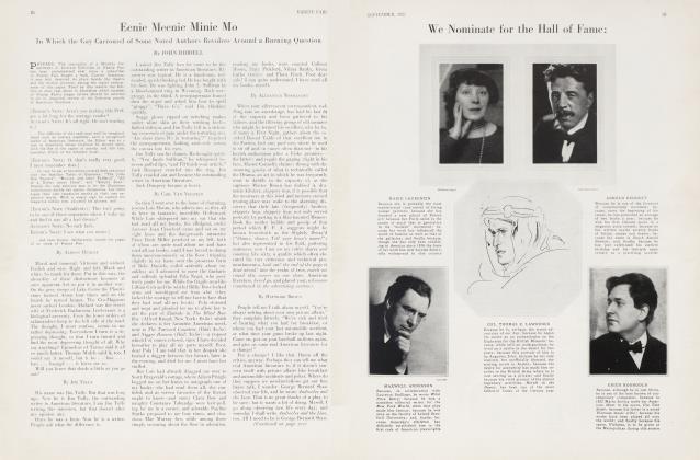Article Preview: Eenie Meenie Minie Mo, September 1927 | Vanity Fair