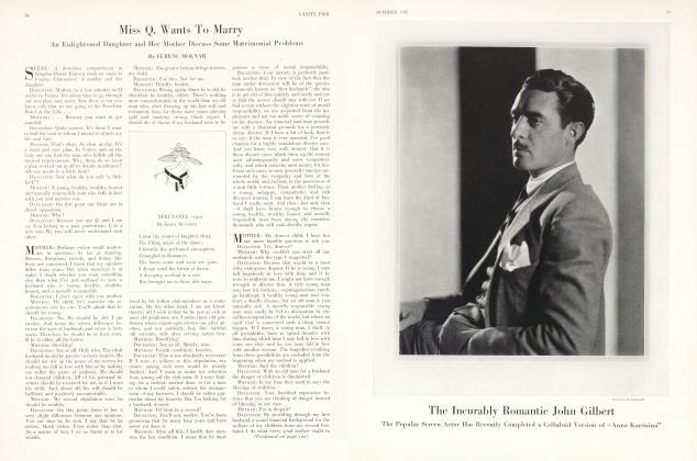 Article Preview: The Incurably Romantic John Gilbert, October 1927 1927 | Vanity Fair