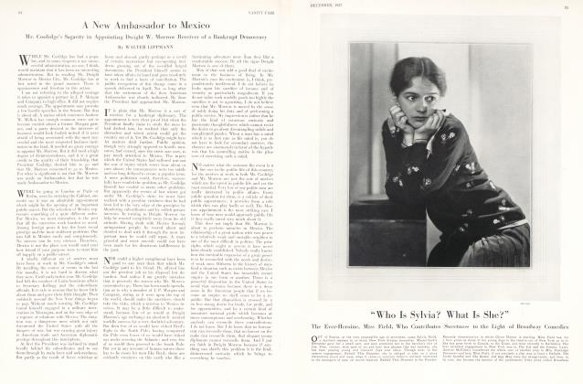 Article Preview: A New Ambassador to Mexico, December 1927 1927   Vanity Fair