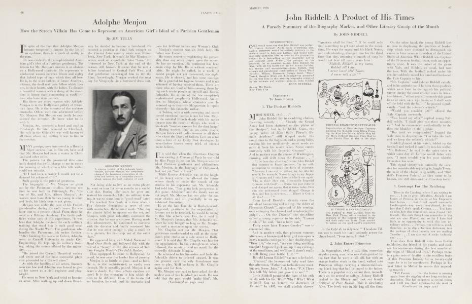 John Riddell: A Product of His Times