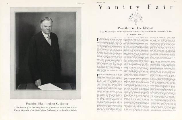 Article Preview: President-Elect Herbert G. Hoover, January 1929 1929 | Vanity Fair