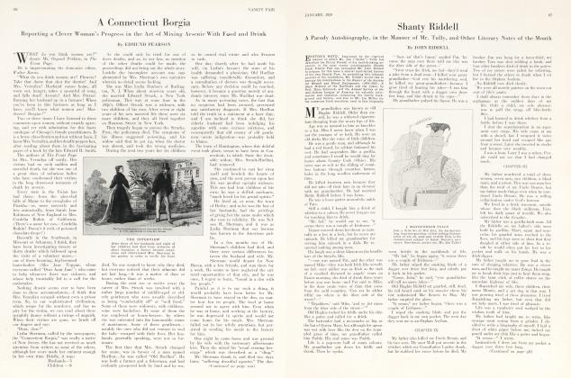 Article Preview: Shanty Riddell, January 1929 1929 | Vanity Fair