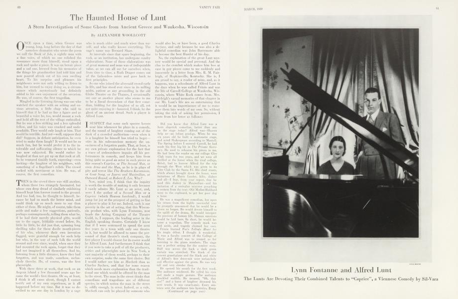 Lynn Fontanne and Alfred Lunt