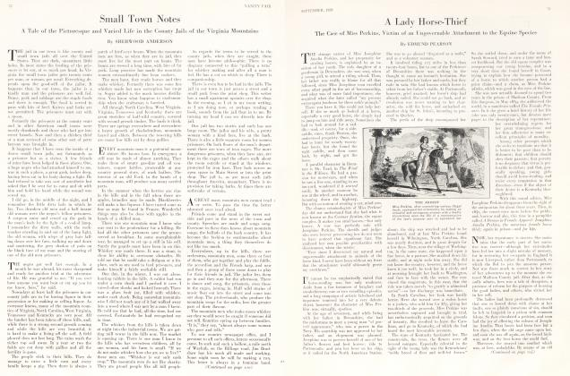 Article Preview: A Lady Horse-Thief, September 1929 1929 | Vanity Fair