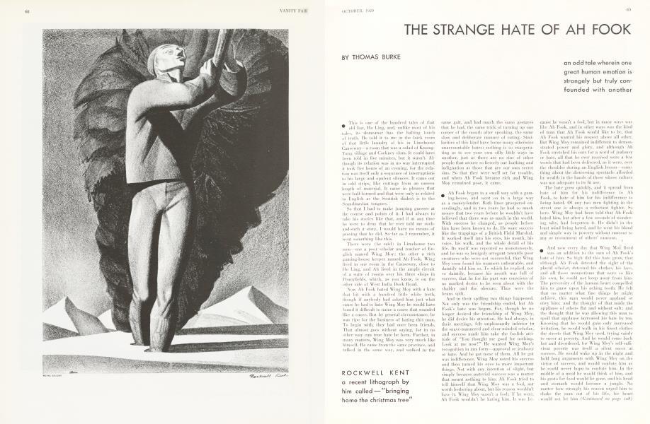 THE STRANGE HATE OF AH FOOK