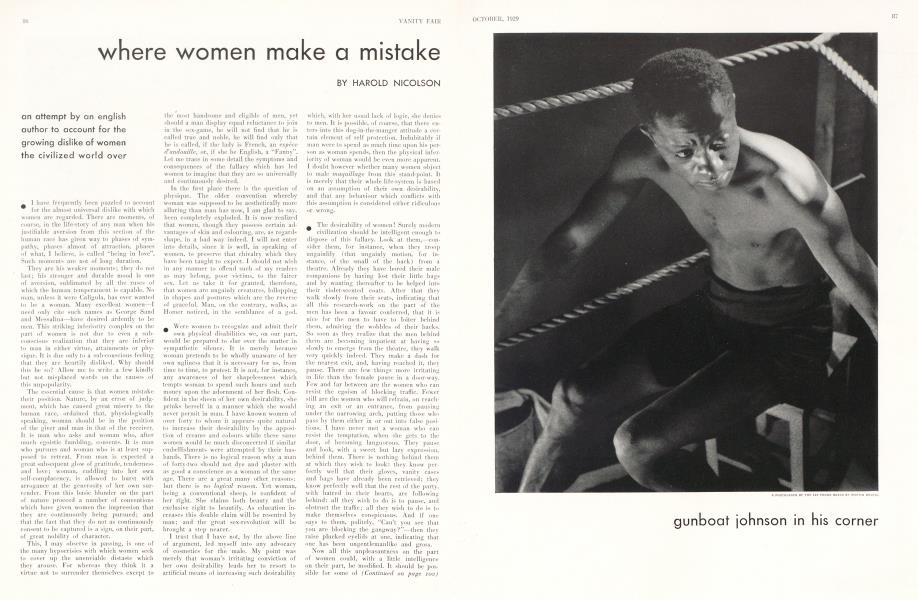 where women make a mistake