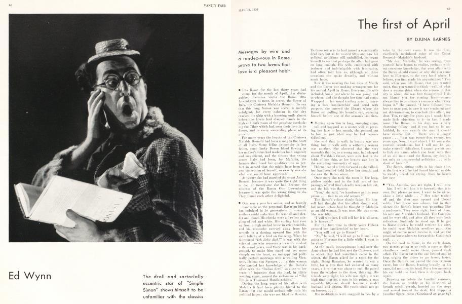 Ed Wynn   Vanity Fair   March 1930