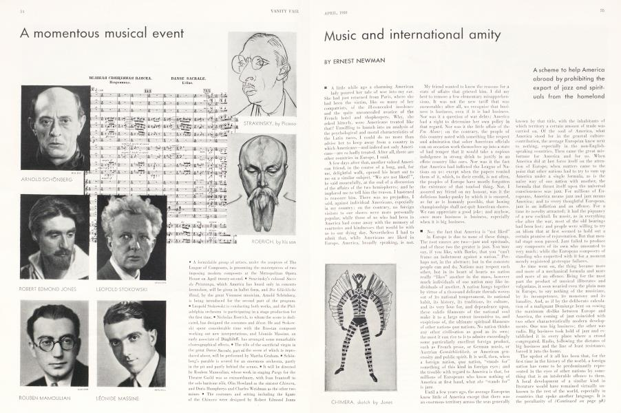 Music and international amity