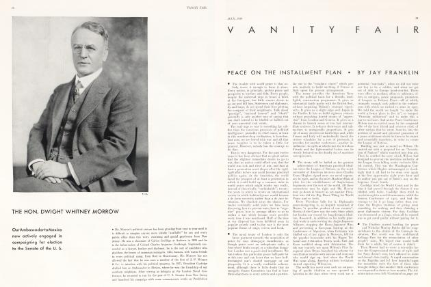 Article Preview: PEACE ON THE INSTALLMENT PLAN, July 1930   Vanity Fair