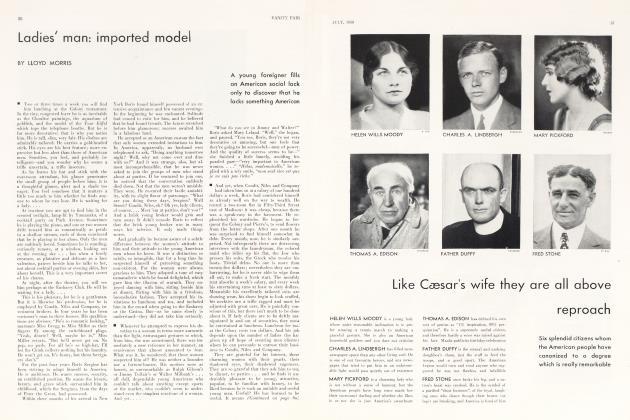 Article Preview: Ladies' man: imported model, July 1930   Vanity Fair
