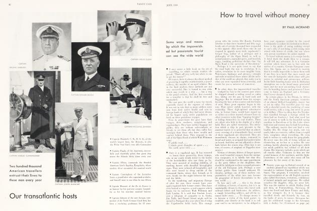 Article Preview: How to travel without money, July 1930   Vanity Fair