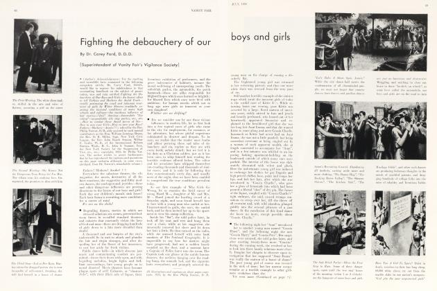 Article Preview: Fighting the debauchery of our boys and girls, July 1930   Vanity Fair
