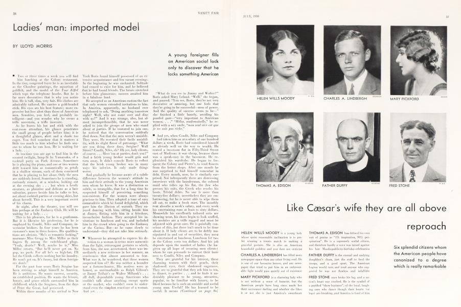 Ladies' man: imported model