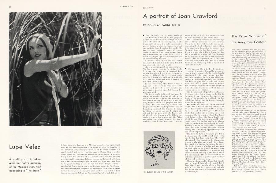 A portrait of Joan Crawford